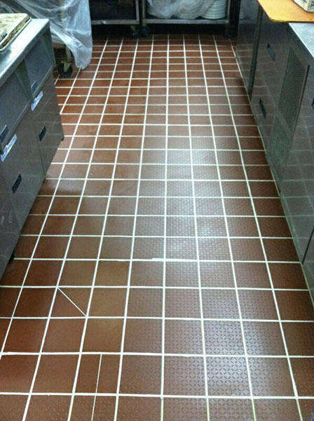 Cheddar's Cafe Grout Medic Project - Work Complete