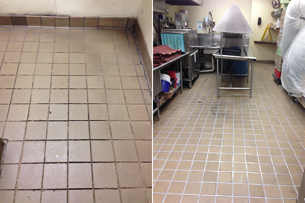 Hotel Monaco Grout Medic Project - Kitchen tile Before