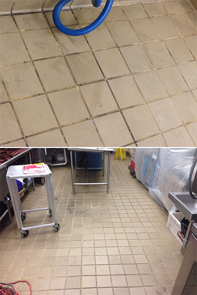 Hotel Monaco Grout Medic Project - Kitchen tile before 02