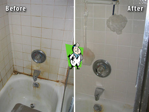 Shower Tile and Grout Cleaning, Before & Afters | Grout Medic Denver