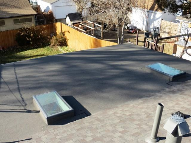 Curb mounted dome skylights were installed.